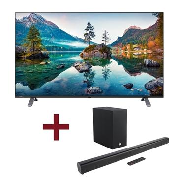 מסך  58' TOSHIBA Smart TV + מקרן קול + סאב JBL