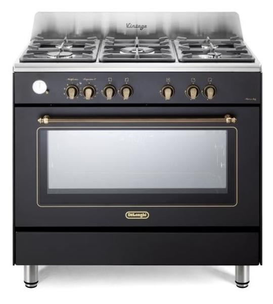 תנור משולב כיריים בעיצוב וינטג' דגם DELONGHI NDS953